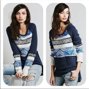 Free people snow thermal oversized long sleeve M